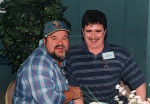 "Dom Deluise and I doing a ""ventriloquist"" act."