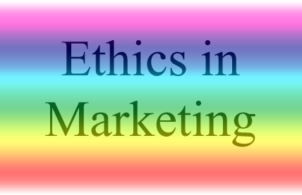 Ethics in marketing graphic